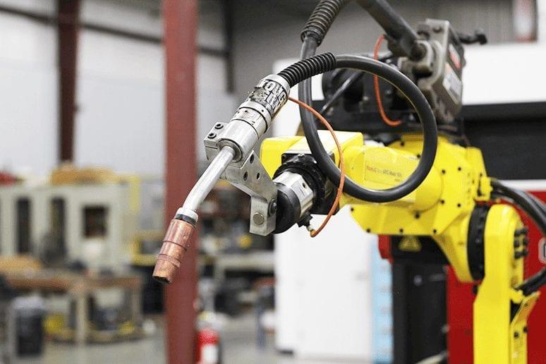 FANUC welding robot on job