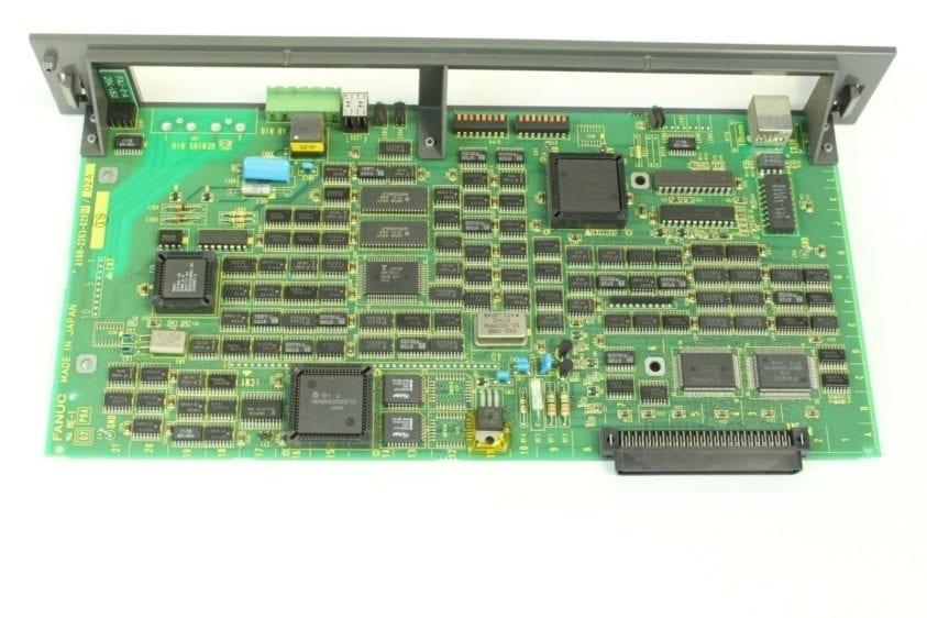 FANUC, CIRCUIT BOARD, A16B-2203-0290, REMOTE I/O ETHERNET BOARD, RJ2